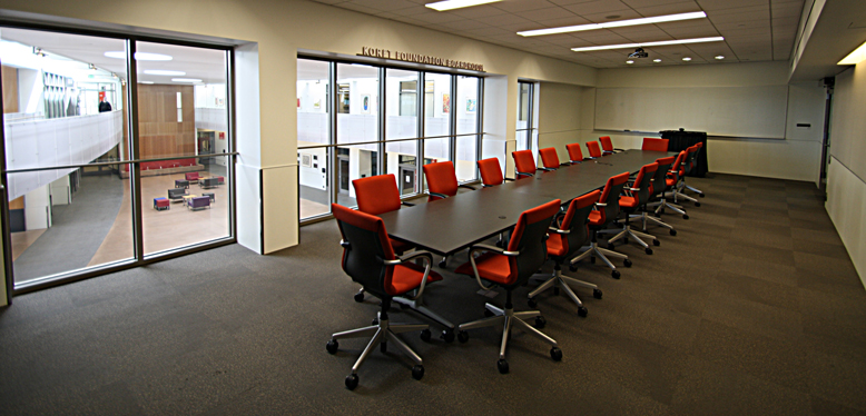 The conference table inside Koret