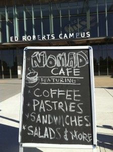 The Nomad Cafe outside the ERC