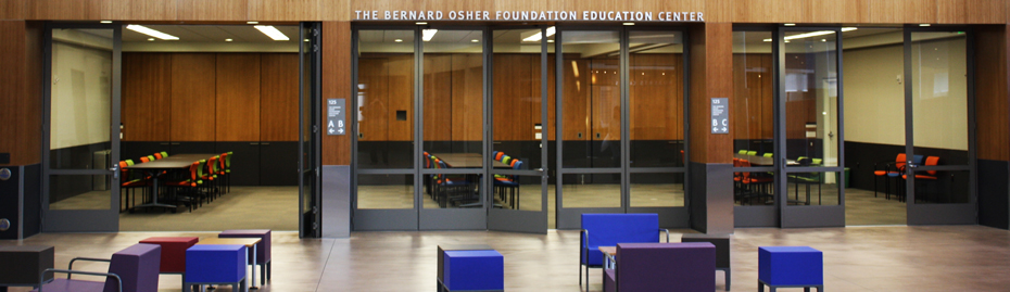 View from lobby of Osher Foundation Education Center