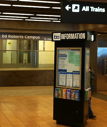 Information booth in BART station