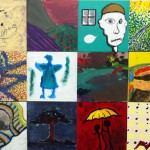 18 tiles from the Disability mural